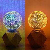 LED لمبات 3D اديسون لمبة G40 / G125 Firework 5W Filament AC85-265V غير Dimmable ضوء الزخرفية (فضي) Crestech