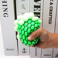 2021 Wholesale Decompression Anxiety Toys 6CM Mesh Squishy Grape Anti Stress Balls Squeeze Toy Venting Flour Ball DHL