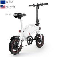 Ucuz ABD AB Depo Yetişkin Katlanır 6ah Şehir Ebike Bisiklet D2F Pil Sürücü Yolu E Bisiklet Motorlu Elektrikli Bisiklet