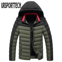 Ursportech Hiver Jacket Homme Veste à capuche Parkas Casual épais épais vestes imperméables à l'étanche Manteaux Hommes automne Outwear Turnproof