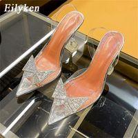 Eilyken size 34-45 Summer Butterfly-knot Women Pumps Fashion Strange Style Tranaparent Female heel Shoes Wedding sandals shoes 210310