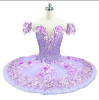 Adulto Lilac Professional World Ballet Competiton Nutcracker Ballet Tutu Dress Dormir Beleza Variação Variação Ballet Tutu Flor Flor Fada
