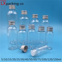 50 unids 5ml 10ml 25ml 30ml 60 ml 100 ml 150 ml vacío de plástico transparente embalaje de aceite botellas de perfume contenedores cosméticos envío gratis alta cualtidad