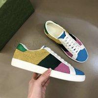 Çok ACE Nakış Baskı Renkli Tasarımcı Ayakkabı Yeşil Ve Kırmızı Web Şerit İtalya Tuval Vintage Luxurys Tasarımcılar Sneakers Glittering Tenis Rahat Ayakkabı