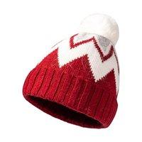 Beanie Skull Caps Winter Brand Female Fur Pom Poms Hat For Women's Knitted Beanies Cap Thick Women Skullies #t3g