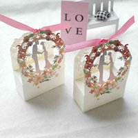 Bride Groom Gift Flower Sweet Small es Gifts Candy Box Packaging for Wedding & Engagement Party Favors