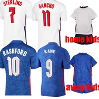 21/22 Fußball Jersey Kane Sterling Rashford Sancho Henderson Barkley Maguire Englang National Football Hemden Männer + Kinder Kit Sets Uniformen