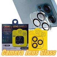 3D 9D Kamera Filmi Temperli Cam Tam Kapak Için iPhone 12 Pro Max Mini 11 Pro Kamera Lens Ekran Koruyucu Perakende Paketi