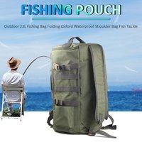 Fiske Tillbehör 23l Lure Bag Rainproof Pouch Oxford Tyg Utomhus Shoulder Fish Tool bär ryggsäck multifunktion