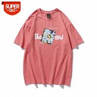 Yaz Çift Küçük Papatya Baskı Kısa Kollu Erkek Ins Hong Kong Tarzı Japon Gevşek T-shirt Erkekler ve Kadın Yarım Kollu Dip Com # PJ8O