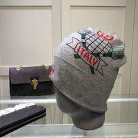 Designer Mens Womens Knitted Hat Fashion Skull Hats Bonnet Winter Beanie Wool Cap Unisex Cashmere Plaid Pattern Letters Thicker Caps
