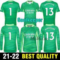21 22 Gunners Kaleci Yeşil Futbol Forması 2021 Arsen Pepe Nicolas Ceballos 1 # Leno 13 # Runarsson 33 # Ryan GK Futbol Gömlek