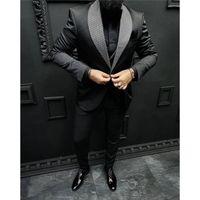 Men's Suits & Blazers Tailor Made Wedding Italian Design Custom Black Smoking Tuxedo Jacket 2 Piece Groom Terno For Men