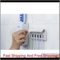 1 комплект держатель щетки зубной пасты MATIC зубной пасты дозатор +5 держатель зубной щетки Зубная щетка настенный стенд jllxnh vjool ibop9