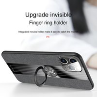 Splicing woven design Case For iphone X Xs XR 6s 7 8 plus 11 Pro 12 Mini Max SE 2020 Finger ring bracket protective Phone shell
