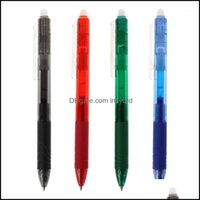 Pens Supplies Business & Industrial0.5Mm Magic Erasable Button Slide Press Gel Pen Red Blue Black Green Ink Office School Stationery Student