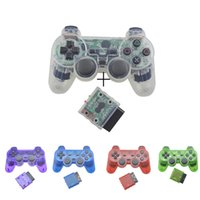 Regolatore di gamepad Bluetooth senza fili a colori trasparente per PS2 2.4G Vibrazione controle per joystick PS2
