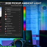 Rgb led licht bar stimme aktivierte farbe wechselnd dynamik lampe musik sync app control multi-modes led streifen licht auto wohnkultur