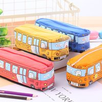 Small Korea Creative Student Animal Bus Pencil Men's and Women's Canvas Stationery Case