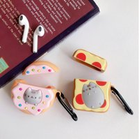 Cartoon Nette Katze Bluetooth Headset Cover 3D Protect Shell Toast Donuts für Airpods 1/2 Fall für Apple Bluetooth Headset Cover