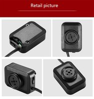 Full HD 1920 * 1080p Súper Mini Botón Cámara de video W1 Mini Button Pinhole Cámara Soporte 7 días 24 horas con cámara de seguridad de la línea larga