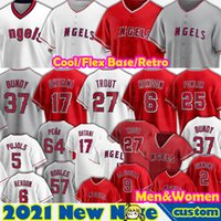 27 Mike Trout Jersey 17 Shohei Ohtani Los Angeles Anthony Rendon Dylan Bundy Baseball Jared Walsh Dexter Fowler David Fletcher Justin Upton