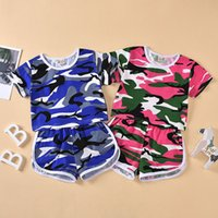 kids Clothing Sets girls boys Camouflage outfits children Short sleeve Tops+shorts 2pcs set summer fashion Boutique baby Clothes Z3875