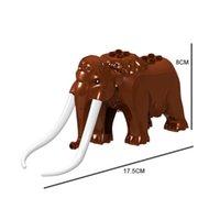 H004 Animal Building Blocks Brick Minifig Camel Mammoth Elephant Mini Action Figure Toy Gift For Children Boy Kid
