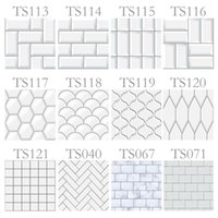 Wall Stickers 10pcs set 15 20cm White PVC Square Waterproof Oilproof Self Adhesive Kitchen For Bathroom Home Sticker