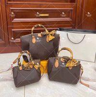 En Kaliteli Köfte Paket Kadın Luxurys Tasarımcılar Çanta 2021 Kabuk Patent Deri Çanta İmitasyon Markaları Orijinal Ekose Çiçek Çanta Toptan Cüzdan Tote