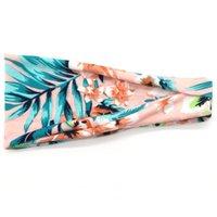 Maska Przycisk Pałąk Uchwyt Dorywczo Ucha Stretch Hairband z Przyciskami Kwiaty Drukowane Kryty Opaski Zespołowe Zespół Zespołu Sportowe 236 S2