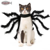 Husdjur super rolig klänning klä upp tillbehör halloween liten hund kostym katt cosplay spindel 4774 Q2