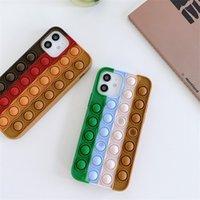 Fidget Case Unique 3D Decompression Phone Cases For Iphone 13 12 Pro Max 11 XR XS X 8 7 Plus Soft Silicone Rubber Fashion Cellphone Back Gel Skin Mobile Cover 10 color