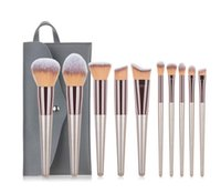 Makeup Brushes 10pcs Set Cosmetic Brushes Make up Tool kit Foundation Natural-synthetic Hair for Eye Shadow Blending Maquiagem