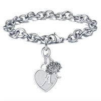 Link, Chain Drop 26 Letters A To Z Initial Charm Heart Alphabet Bracelets Tree Of Life Jewelry For Women Girls Gifts