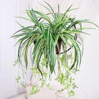 70 سنتيمتر النباتات الاصطناعية البلاستيك كلوروفيتوم باقة وهمية زهرة الجدار شنقا الأخضر يترك غرفة المعيشة المنزل حديقة الديكور