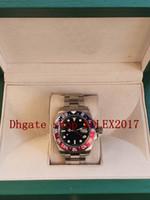 원래 상자 망 레드 블루 세라믹 40mm GMT 116719BLRO 116719 ETA 2813 무브먼트 자동 패션 다이빙 망 시계