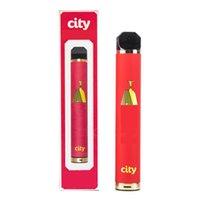 Город одноразовые 1600 Puffs Электронные сигареты Vape Pen Starter Наборы 1200 мАч Батарея 5.5 мл Заполненный испаренный испаритель 17 Цвета против Puff XXL Flum Flum