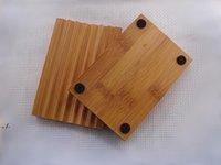 자연 대나무 비누 접시 비누 트레이 홀더 스토리지 비누 랙 접시 욕실 샤워 플레이트 욕실 RRD11105