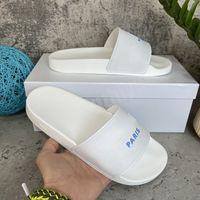 2021 Moda para hombre para mujer zapatillas Sandalias Slide Summer Top Calidad ancha Plana Slippery Slipper Flip Floop Orinigal Caja 36-45