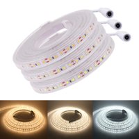 24V 2835 LED-Streifen-Licht mit DC-Stecker 120LED / M wasserdicht flexible LED-Beleuchtung Band-Streifen-Dekoration 1m 5m 10m 50 cm