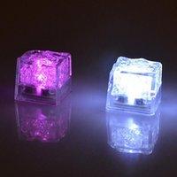Aoto couleurs mini romantique cube lumineux LED glaçons artificiels Cube flash LED lumière lumière mariage décoration fête fête