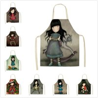 Aprons Character Baking Accessories Apron Home Cooking Kitchen Housework Cleaning Antifouling Korean Supplies