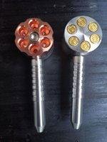 Métal Bullet Smoking Tuyau de tuyau de style Mouvoir broyeur broyeur six tireur de tireur de tabac de tabac de tuyau de tuyau de tuyau de tuyau d'herbe herbe vaporisateur zeusart shop vente