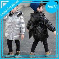 2020 зимние нижние кошки Jas Parka для мальчиков мода яркие съемные задние крылья с капюшоном детская детская одежда 2-11