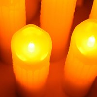 5 Pcs Flickering Flameless Pillar LED Candle with Remote Night Light Led Easter Wedding Decoration ing H0909