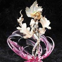 Kader Kalmak Gece Karakterleri Beyaz Gelinlik Saber Action Figure Heykeli Model Kader Apocrypha Heykelcik T30 Y0705