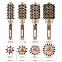 اسطوانة الشباك الذهبي المتداول ارتفاع في درجة الحرارة الحرارة موصل الهواء سيراميك مشط تصفيف الشعر