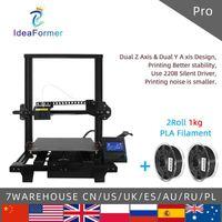 IdeaFormer Pro FDM 3D 프린터 듀얼 Z 축 듀얼 Y 축 Silent 인쇄 300 * 300 * 350mm 전체 금속 자석 빌드 플레이트 DIY 프린터