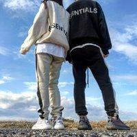 Осень зимний страх перед Богом Мужские брюки Основные брюки Свободные Силиконовые буквы Печать Брюки Повседневные противотуманные штаны Мужчины Женщины FG Jogger Pocke Bants Drawstring Спортивный Брюк